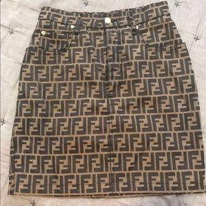 Fendi Zucca Skirt 30